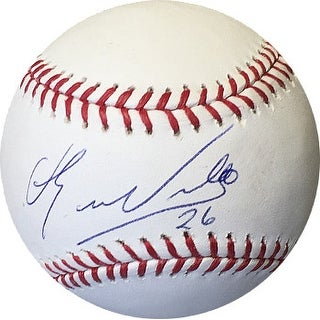 Eduardo Nunez signed Rawlings Official Major League Baseball #26 (blue sig) (Boston Red Sox)