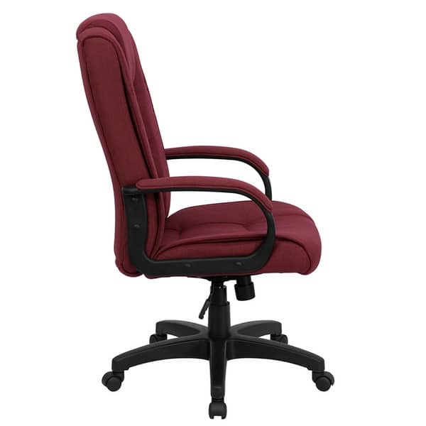 Miraculous Shop Aberdeen High Back Burgundy Fabric Executive Swivel Pdpeps Interior Chair Design Pdpepsorg