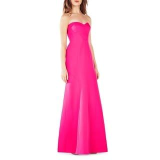 BCBG Max Azria Womens Evening Dress Geometric Strapless