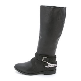 Rampage Womens Isadora Almond Toe Mid-Calf Riding Boots