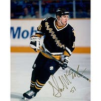 Signed McEachern Shawn Pittsburgh Penguins 8x10 Photo autographed