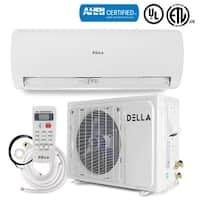 DELLA 12000 BTU Ductless Air Conditioning System 17 SEER Wallmount Heat Pump Mini Split Inverter Unit 230V
