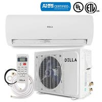 DELLA 18000BTU Ductless Inverter Mini Split Air Conditioner 230V Wall Mount with Heat Pump System 17 SEER