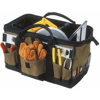 "CLC 1163 ToolWorks MegaMouth Tool Bag, 18"", 31 Pockets"