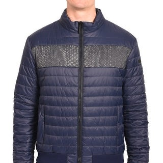Roberto Men Cavalli Puffer Jacket Navy