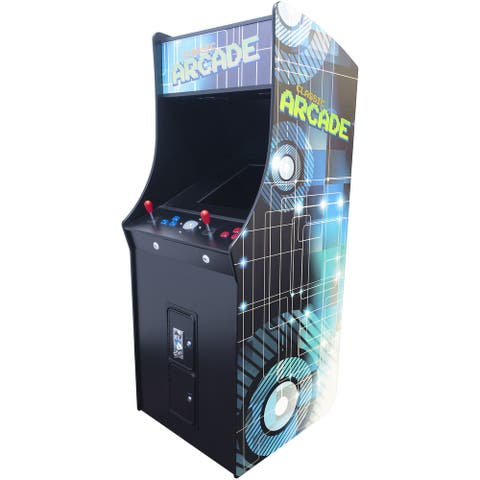 """2 Player Stand Up Full Size, 60 Games 22"""" Classic Video Game Arcade"""