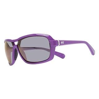 Nike EV0615-505 Racer Sunglasses Bright Violet Frm Gray Silver Flash Mirror Lens - bright violet