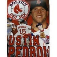 Signed Pedroia Dustin Boston Red Sox 11x14 Photo autographed