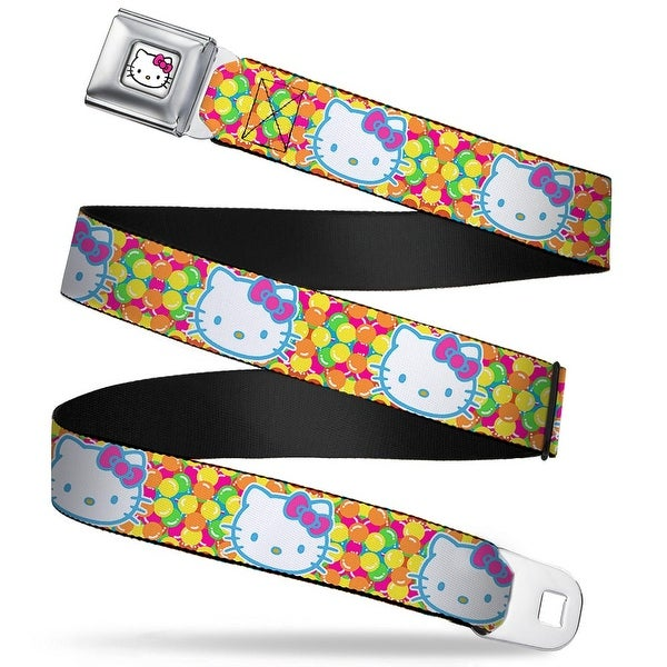 Hello Kitty Face W Pink Bow Full Color White Hello Kitty Face Balloons Seatbelt Belt