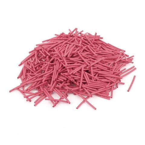 Unique Bargains 600pcs 2:1 1mm Red Polyolefin Flexible Heat Shrink Tubing Wire Wrap