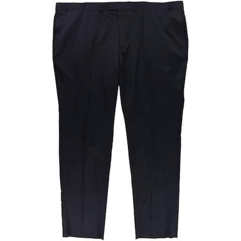 Ralph Lauren Mens Simple Dress Pants Slacks, Blue, 52 BigW x 38L - 52 BigW x 38L