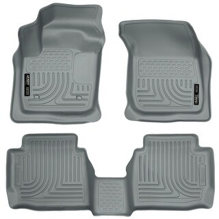 Husky Weatherbeater 2013-2016 Lincoln MKZ Base/MKZ Hybrid Grey Front & Rear Floor Mats/Liners