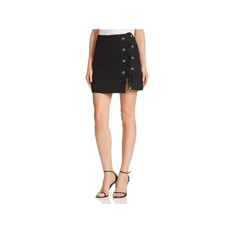 Rebecca Minkoff Womens Skort Lace-Up Mini