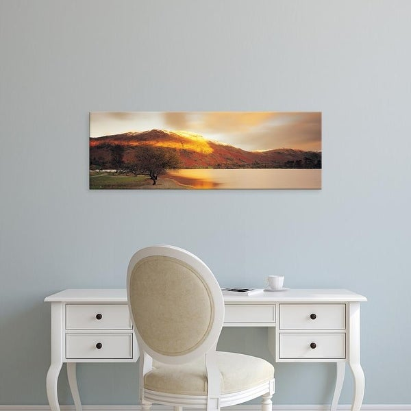 Easy Art Prints Panoramic Images's 'Mountain Range, Ullswater, Lake District, Great Britain, United Kingdom' Canvas Art
