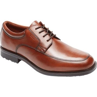 Rockport Men's Essential Details Waterproof Apron Toe Tan Antique Leather