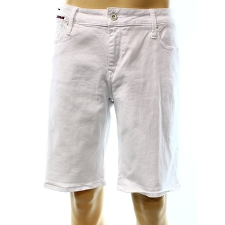Tommy Hilfiger NEW White Mens Size 28 5-Pocket Dyed Denim Shorts