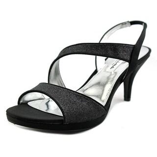 Nina Newark Women Open Toe Synthetic Black Sandals