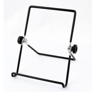 Unique Bargains Traveling Foldable Multi-angle Stand Holder Bracket Black for Tablet PC