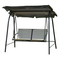 Costway Patio Loveseat Canopy Swing Glider Hammock Cushioned Steel
