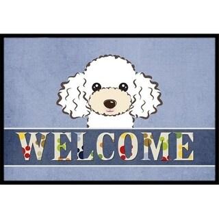 Carolines Treasures BB1443MAT White Poodle Welcome Indoor & Outdoor Mat 18 x 27 in.