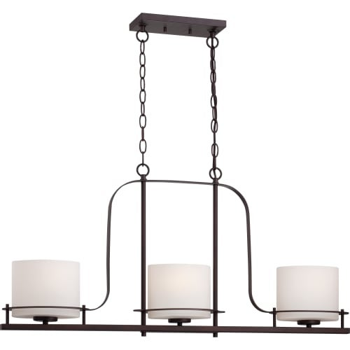 "Nuvo Lighting 60/5006 3 Light 36"" Wide Linear Chandelier"