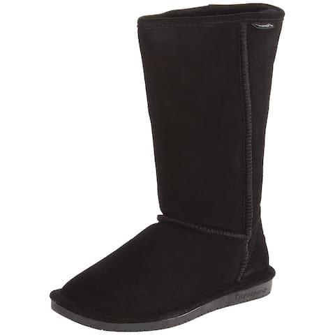 Bearpaw Womens Emma Tall Fabric Open Toe Knee High Fashion Boots