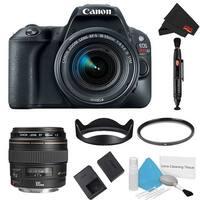 Canon EOS Rebel SL2 DSLR Camera with 18-55mm Lens (Black) Kit + 100mm Lens (Intl Model)