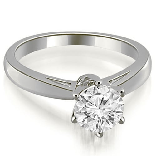 1.00 cttw. 14K White Gold Solitaire six Prong Diamond Engagement Ring