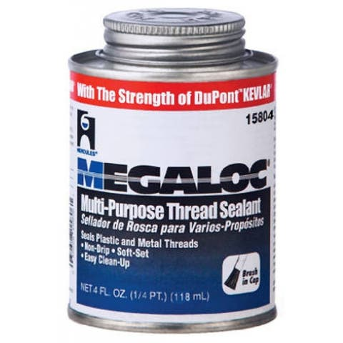 Hercules 15804 Megaloc Multi-Purpose Thread Sealant with Kevlar, 4 Oz