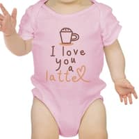 Love A Latte Infant Bodysuit Gift Pink