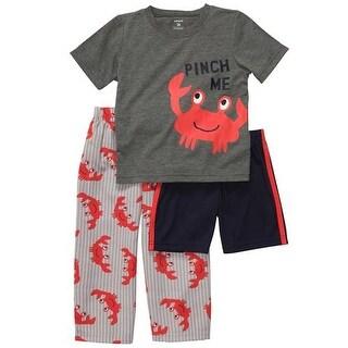 Carters Boys 2T-4T Crab 3pc Pajama Set