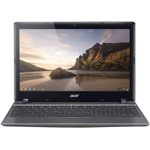 """Acer Chromebook C720-2103 Intel Celeron 2955U X2 1.4GHz 2GB 16GB SSD 11.6"""",Black(Refurbished)"""