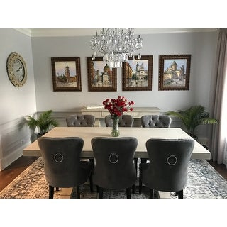 Shop Abbyson Versailles Grey Tufted Dining Chair On Sale