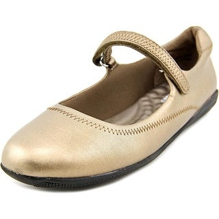 Walking Cradles Jane Women N/S Round Toe Leather Bronze Mary Janes