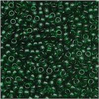 Toho Round Seed Beads 6/0 939 'Transparent Green Emerald' 8g