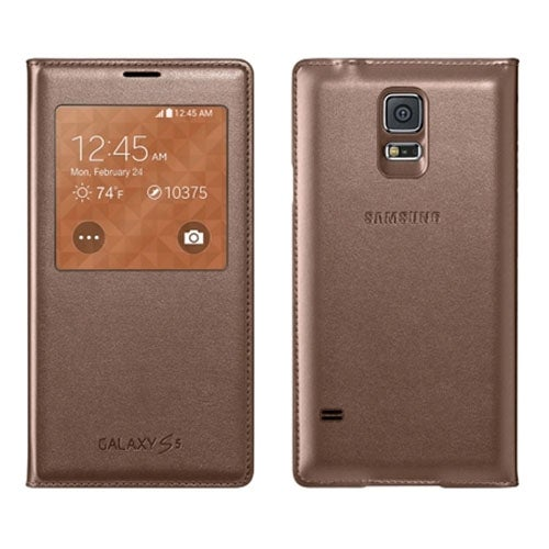 Samsung S-View Flip Cover for Samsung Galaxy S5 (Rose Gold)