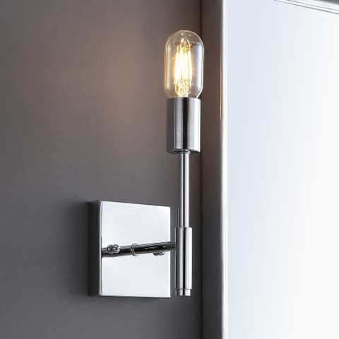"""Turing 5"""" 1-Light Metal LED Wall Sconce, Chrome by JONATHAN Y"""