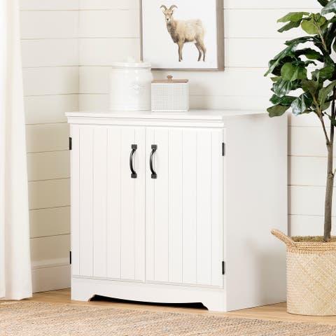 South Shore Farnel White Finish 2-door Storage Cabinet