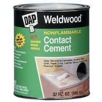 Dap 25332 Weldwood Nonflammable Contact Cement, 1 Qt