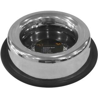 Stainless Steel - Pet Nautic Splash-Free Anti-Skid Dog Bowl 8Oz