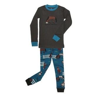 Lazy One Boys' Toddler Pasture Bedtime Pajamas