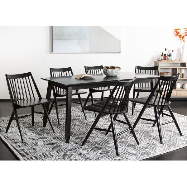 """Safavieh Dining 19-inch Wren Black Spindle Dining Chair (Set of 2) - 21"""" x 21.9"""" x 33.7"""". Opens flyout."""