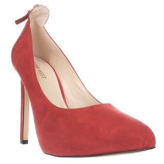 Nine West Lovelost Platform Dress Pumps - Red Suede