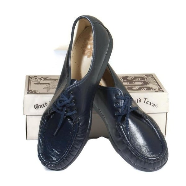 76ce6b0cc87d Shop SAS Siesta Navy Leather Lace Up Loafer Comfort Shoes Size 11 1 ...