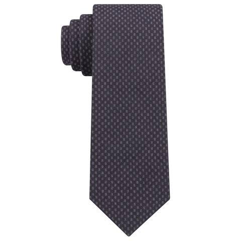 Michael Kors Men's Contrast Tail Geometric Slim Tie Grey Necktie