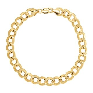 Eternity Gold Curb Chain Bracelet in 10K Gold - Yellow