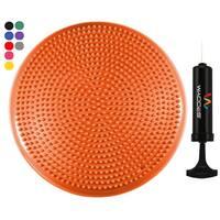"""Wacces 13"""" Athletic Inflatable Massage Balance Stability Fitness Cushion Disc to Improve Balance & Flexibility, Orange"""