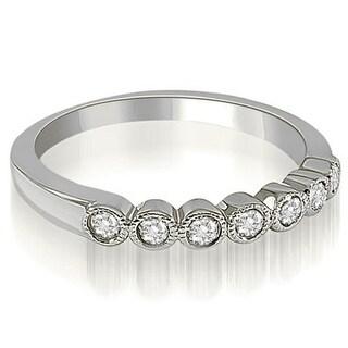 0 21 CT Antique Stackable Milgrain Bezel Diamond Wedding Ring In 14KT
