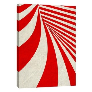 """PTM Images 9-108998  PTM Canvas Collection 10"""" x 8"""" - """"Red Swirls A"""" Giclee Abstract Art Print on Canvas"""