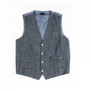 Tasso Elba NEW Blue Combo Mens Size XL Four-Button Three-Pocket Vest